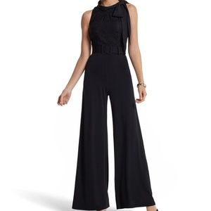 HOLIDAY READY LACE BODICE JERSEY JUMPSUIT by WHBM